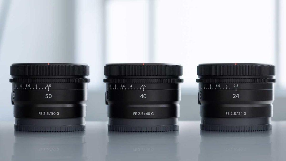 Pre-order Now: Sony FE 24mm f/2.8 G, FE 40mm f/2.5 G, FE 50mm f/2.5 G Lenses
