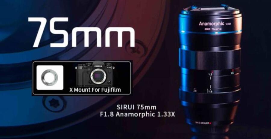 Sirui 75mm f/1.8 1.33x Anamorphic Lens Announced